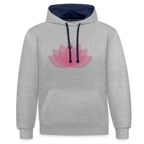 DOE JE DING #LOTUS - Contrast hoodie