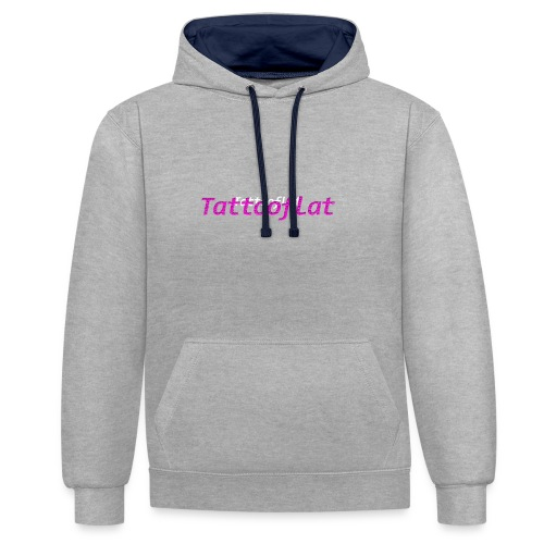 Tattooflat T-shirt - Contrast Colour Hoodie