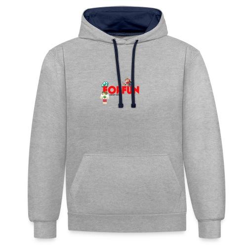 T-shirt Server ForFUn - Felpa con cappuccio bicromatica