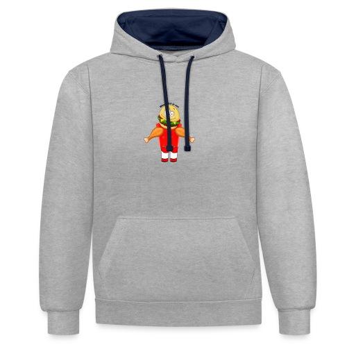 Je Bent Wat Je Eet - Contrast hoodie