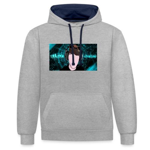 BlueDigit Sweatshirt - Contrast Colour Hoodie