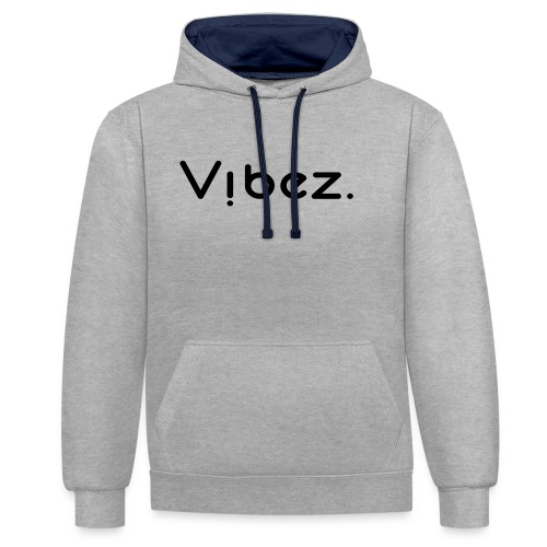 vibezschwarz jpg - Kontrast-Hoodie