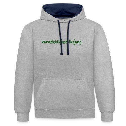 moetjustnix - Contrast hoodie