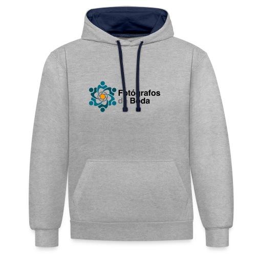 Logo FdB Color - Sudadera con capucha en contraste