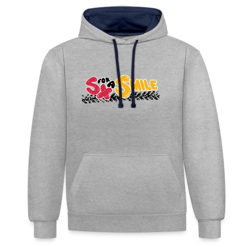 SX FOR A SMILE - Kontrast-Hoodie