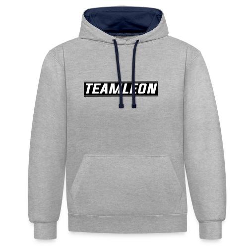 Team Leon Hoodie - White - Contrast Colour Hoodie