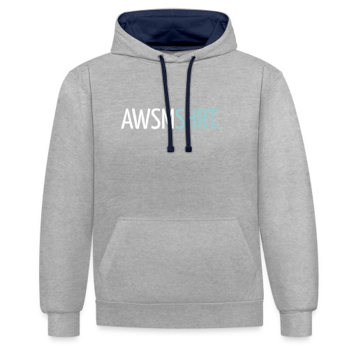 awsmshrt3000 - Contrast hoodie