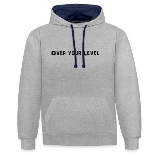 LOGO Over Your Level - Kontrast-Hoodie