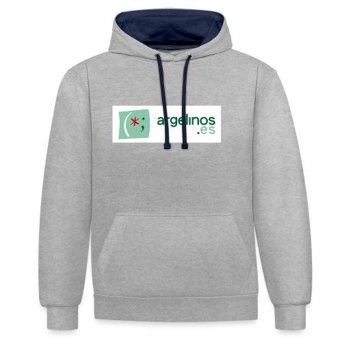 ArgelinosTshirt - Sudadera con capucha en contraste