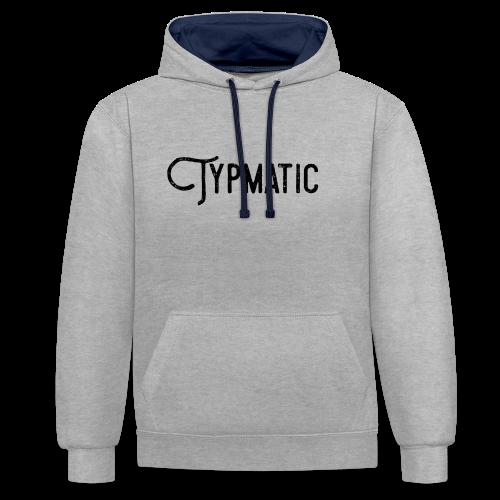 Typmatic - Kontrast-Hoodie