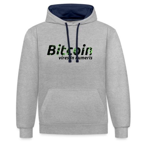 Bitcoin Matrix: Vires in numeris(Bitcoin Geschenk) - Kontrast-Hoodie
