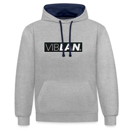 VibLAN_LOGO - Kontrast-hættetrøje