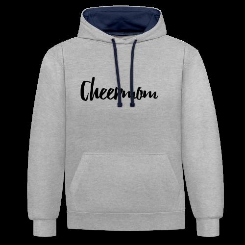 Cheermom Handlettering - Kontrast-Hoodie