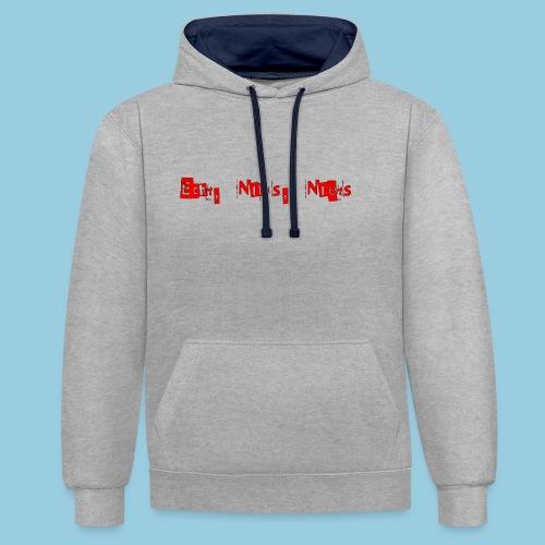 ECHT NIKS NIETS - Contrast hoodie