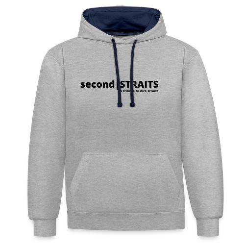 secondSTRAITS_01_black - Kontrast-Hoodie
