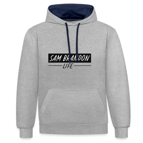 SamBrandonMerchandise - SamBrandon Box Logo - Contrast Colour Hoodie
