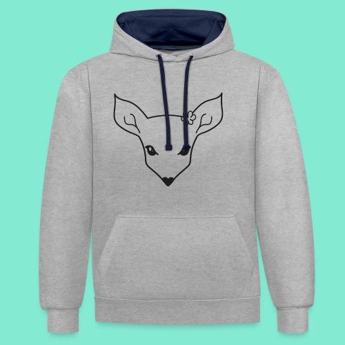 little fawn t-shirt - Felpa con cappuccio bicromatica