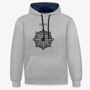 mandala - Contrast hoodie