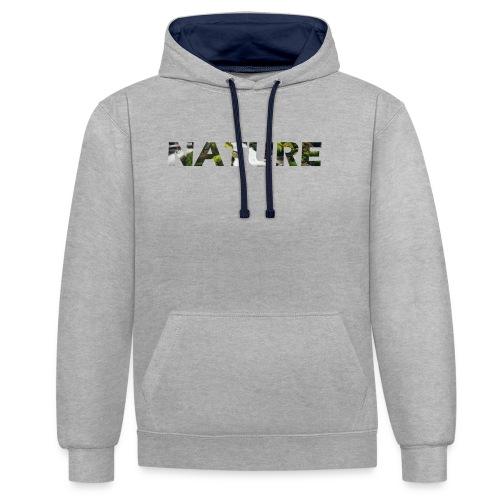 Nature - Contrast hoodie