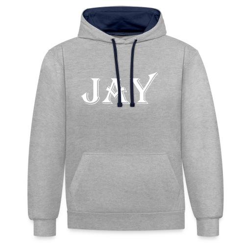 Prodotto JAY - Felpa con cappuccio bicromatica