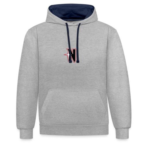 N Logo Standart - Kontrast-Hoodie