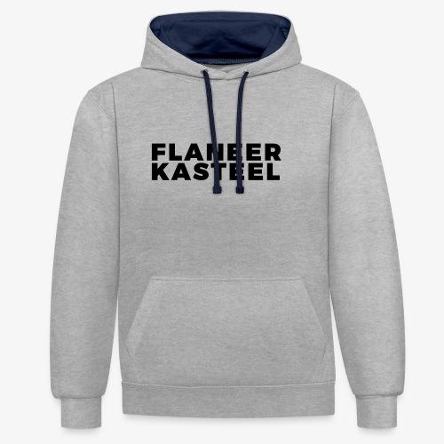 Flaneer Kasteel - Contrast hoodie