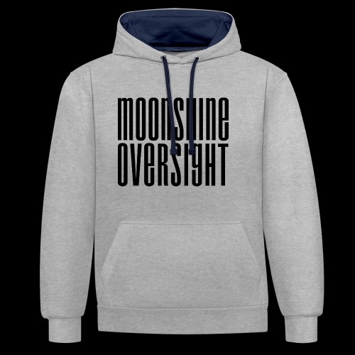 Moonshine Oversight noir - Sweat-shirt contraste