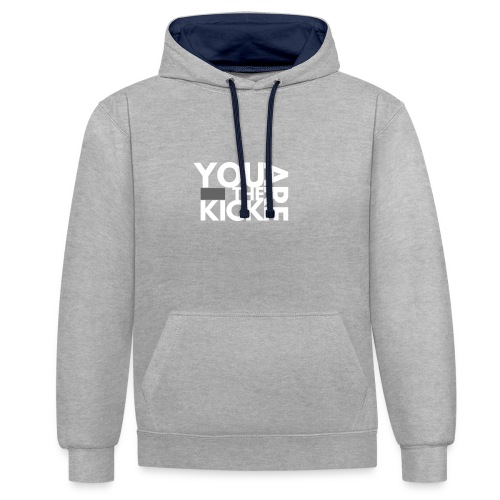 LOGO THE KICK REVERSED - Contrast hoodie