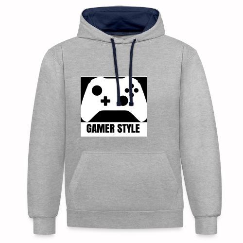 GAMER StYLE - Kontrast-Hoodie