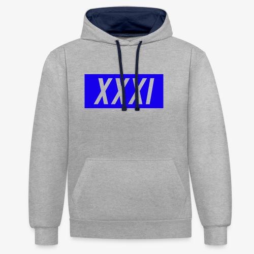 XXXI Design - Contrast Colour Hoodie