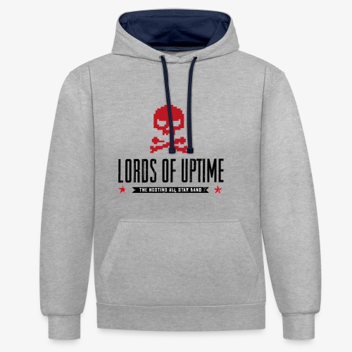 Lords of Uptime black - Kontrast-Hoodie