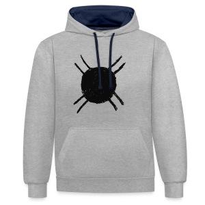 Fredje white shirt - Contrast hoodie