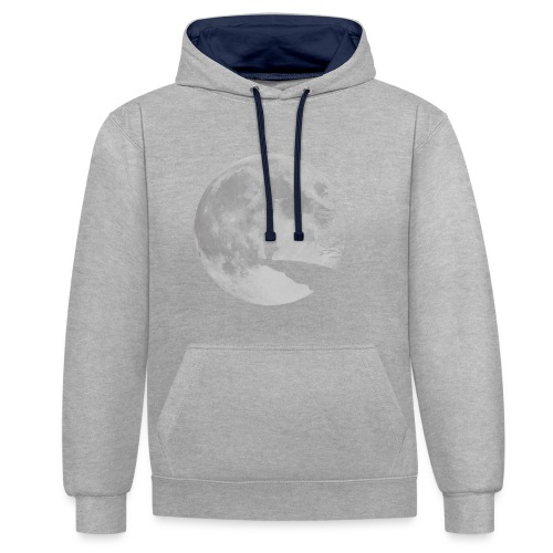 rabbit_wolf-png - Contrast Colour Hoodie
