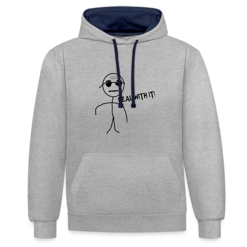 DEAL_WITH_IT--png - Contrast hoodie