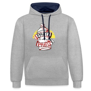 Paint the way you Print - White - Contrast hoodie