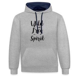 Wild-and-Free-Spirit - Contrast Colour Hoodie