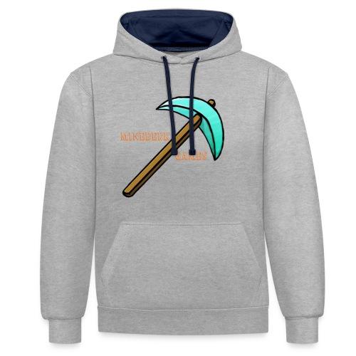 MineBerk Games Logo - Contrast hoodie