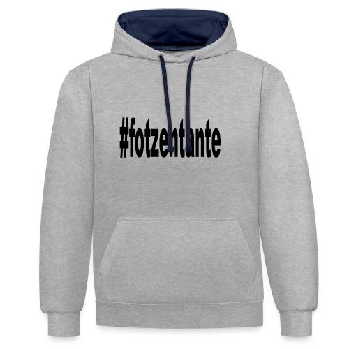 #fotzentante - Kontrast-Hoodie