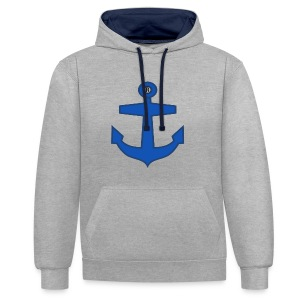 BLUE ANCHOR CLOTHES - Contrast Colour Hoodie