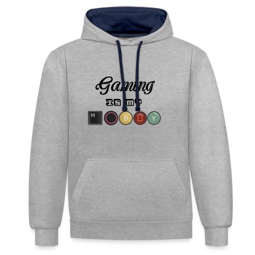Gaming is my hobby - Sudadera con capucha en contraste
