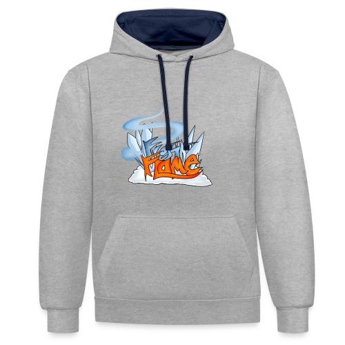 FrostFlame Logo - Kontrast-hettegenser