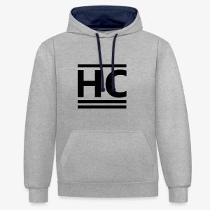 Black Official Horizon Clothing - Contrast Colour Hoodie