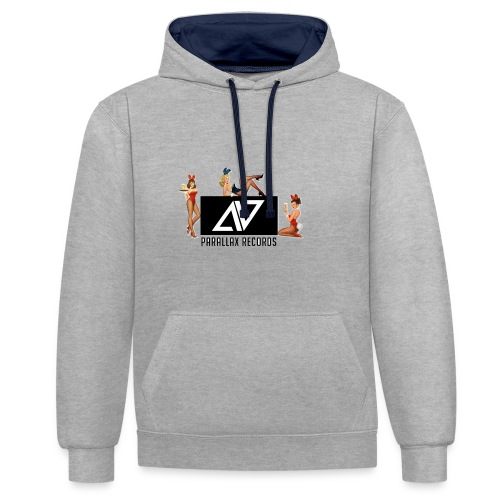 Parallax Records logo classic - Contrast Colour Hoodie