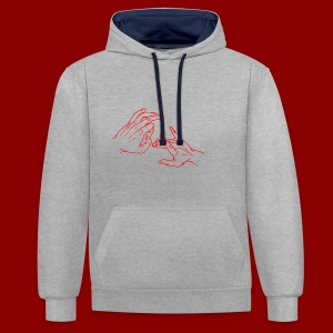 Logo simple / Rouge - Sweat-shirt contraste
