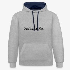 Zendegi (Leben) - Schwarz - Kontrast-Hoodie