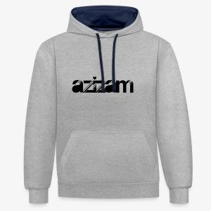 azizam - Kontrast-Hoodie