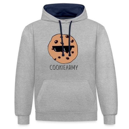 CookieArmy2 - Kontrast-Hoodie
