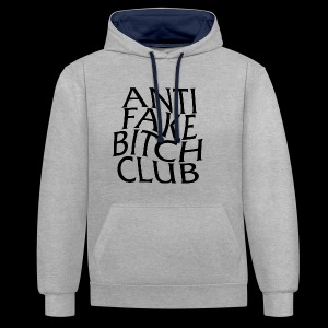 ANTI FAKE BITCH CLUB - Contrast Colour Hoodie