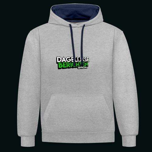 Dagelijkse Berichten Tshirt Logo v1 - Contrast hoodie