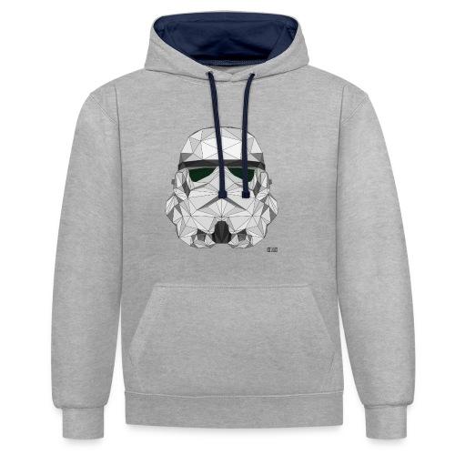 stormtrooper logo - Sweat-shirt contraste